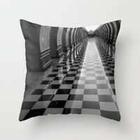 moscow Throw Pillows featuring Moscow Metra by Kim Ramage