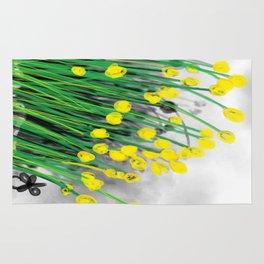 Yellow Flowers! Rug