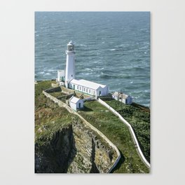 South Stack Lighthouse Close Up Canvas Print