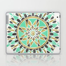 Mint & Gold Mandala Laptop & iPad Skin