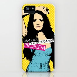 Problem / Lindsay Lohan iPhone Case