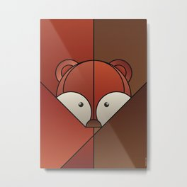 ANIminiMAL - Animal Minimal Fox Art Print Metal Print