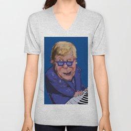 Caricature of Elton John Unisex V-Neck