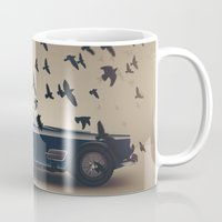 ferrari Mugs featuring Ferrari by Seventy Two Studio