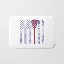 Lacrosse Flag Bath Mat