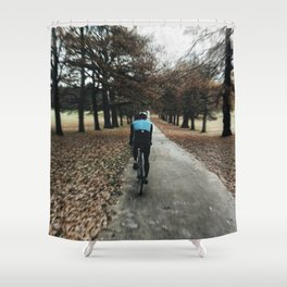 cycling in wollanton park Shower Curtain