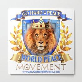 Go Hard 4 Peace, Love & Unity Metal Print