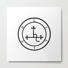 Sigil of Lilith- Female demon Lilith symbol Metal Print