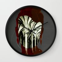 1d Wall Clocks featuring Die Kirchenmaus 1d by Marko Köppe