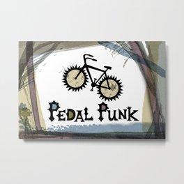 petal punk paint Metal Print