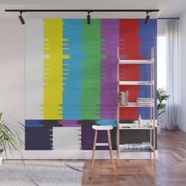 color tv bar#glitch#effect Wall Mural