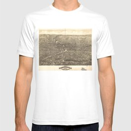 Vintage Pictorial Map of Rochester NY (1880) T-shirt