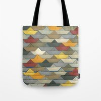 boats Tote Bags featuring Boats by GLOILLUSTRATION