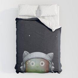 Cat Astronaut Comforters