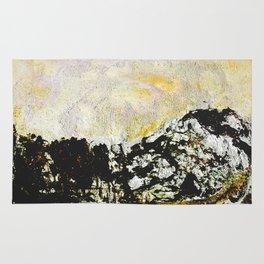 Golden mountains Rug