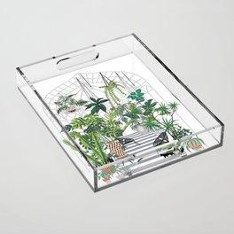 greenhouse illustration Acrylic Tray