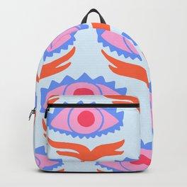 Pink Evil Eye Backpack
