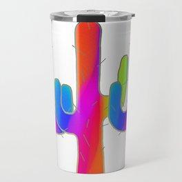 Cactus Rainbow 01 Travel Mug