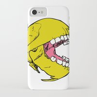 pac man iPhone & iPod Cases featuring Ancient Pac-man by Sauce Designs