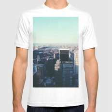Take me back to the city White Mens Fitted Tee MEDIUM