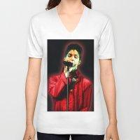 prince V-neck T-shirts featuring Prince by JR van Kampen