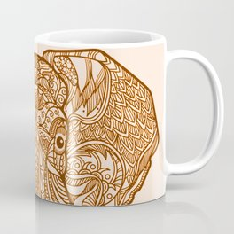 tribal indian henna elephant Coffee Mug