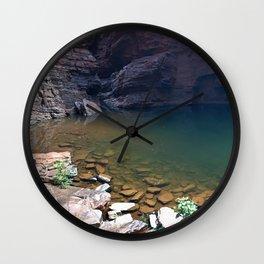 Handrail pool, Karijini National Park Wall Clock