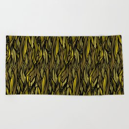 Hair Pattern Beach Towel