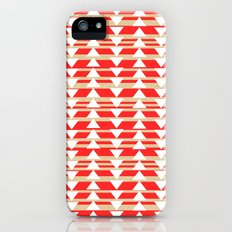 Tribal- Red & White Slim Case iPhone (5, 5s)
