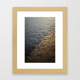 Sandy Sunrise on Beach Framed Art Print