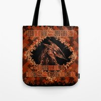 kitsune Tote Bags featuring Kitsune by Carlo Spaziani