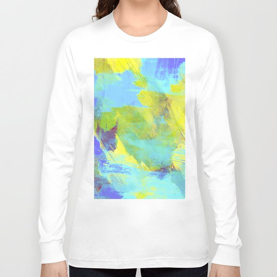 Hint Of Summer - Abstract, textured painting Long Sleeve T-shirt