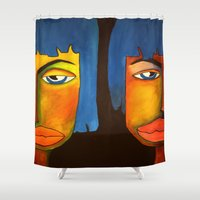 twins Shower Curtains featuring Twins by Shahadjef