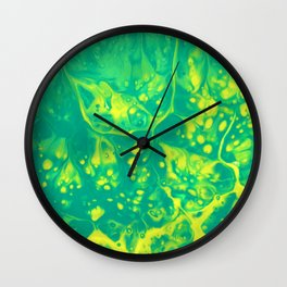 Green #3 Wall Clock