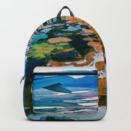 Airplane Window View | Salt Lake City Psychedelic Natural Vibrant Colorful Landscape Backpack