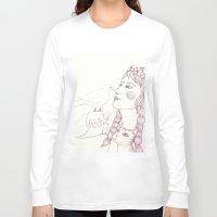 pigeon Long Sleeve T-shirts featuring pigeon by Adi Yochalis