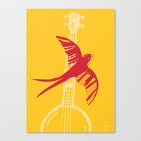 swallow Canvas Prints featuring Swallow by Cai Sepulis