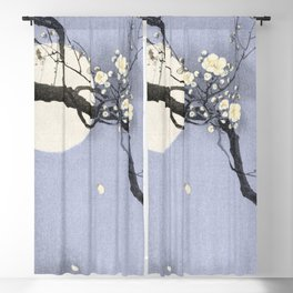 Full Moon and blossom Blackout Curtain