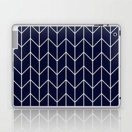 Chevron pattern -  white on darkblue Laptop & iPad Skin