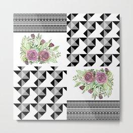Rustic patchwork 5 Metal Print