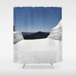 View from Superstar, Killington Shower Curtain