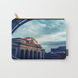 Union Station // Downtown Denver Travel & Train Station Retro Red Sign City Scape Photography Carry-All Pouch