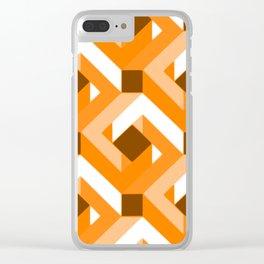 Geometry No. 1 -- Orange Clear iPhone Case