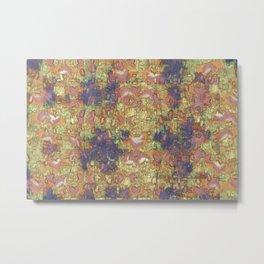 Mineral Map - Abstract Art Metal Print