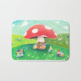 Mushroom library Bath Mat
