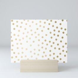 Stylish Gold Polka Dots Mini Art Print