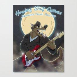 Howling Wolf Guitars Canvas Print