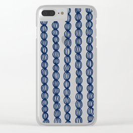 Blue Strings Clear iPhone Case