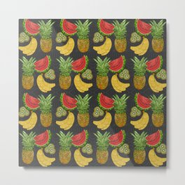 Tropical Fruit Salat Metal Print