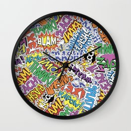 Comic Madness - Bam! Pow! Kaboom! Wall Clock